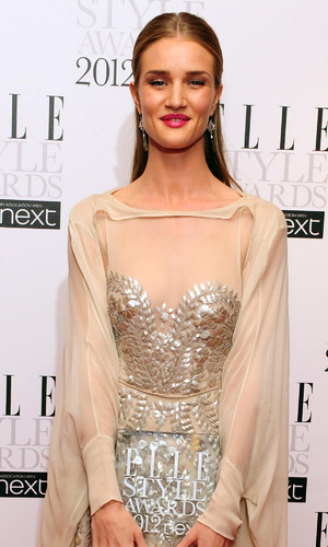The 2012 Elle Style Awards: Rosie Huntington-Whiteley with her award for Style Icon