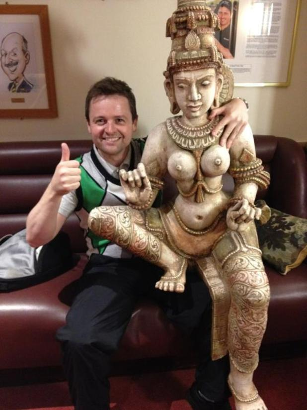 Declan Donnelly with buddha trophy