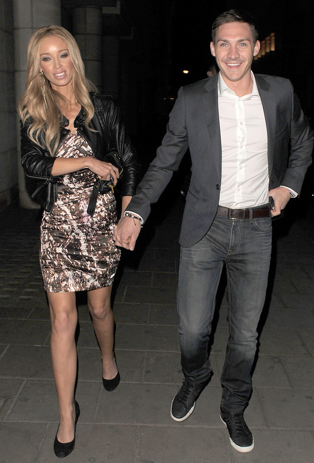 'The Only Way is Essex' stars Lauren Pope and Kirk Norcross leaving Nobu restaurant, having had dinner with friends. London, England - 14.04.11 Mandatory Credit: Will Alexander/WENN.com