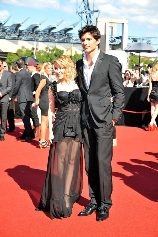 Kylie Minogue and Andres Velencoso The 2011 ARIA awards at Allphones arena Sydney, Australia - 27.11.11 ***Available for publication in the UK, USA, Germany, Austria & Switzerland***Not available for the Rest of the World*** Mandatory Credit: WENN.com