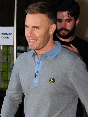 Gary Barlow leaving his hotel for the first day of boot camp Liverpool, England - 17.07.12 Mandatory Credit: WENN.com