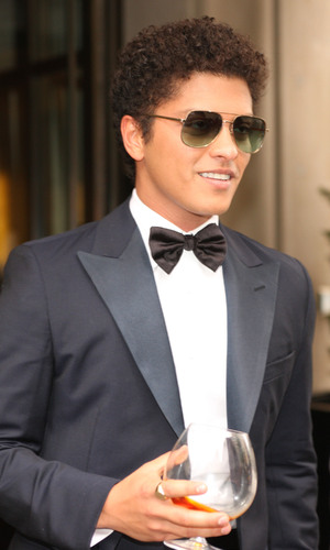 Bruno Mars leaves his hotel holding a brandy glass New York City, USA - 07.05.12 Mandatory Credit: Pop/WENN.com