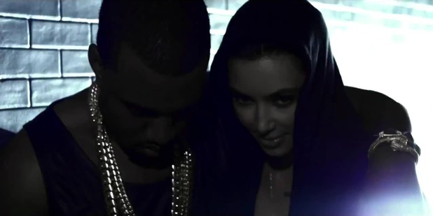 Kanye West and Kim Kardashian in 'Cold' music video.