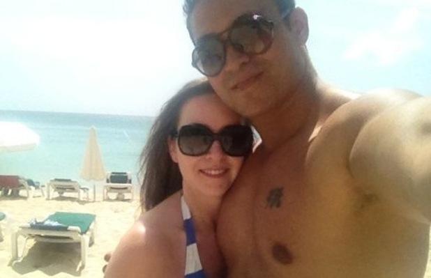 Rav Wilding and fiance Jill Morgan in Barbados