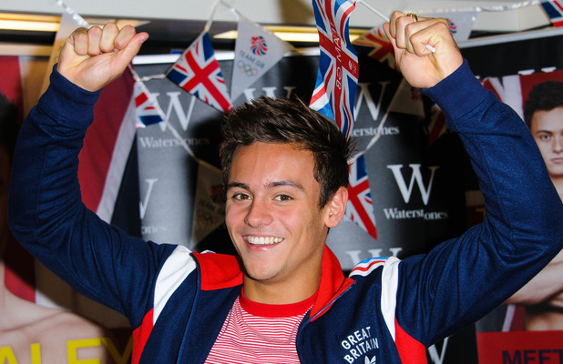 Olympic medalist, Tom Daley signs copies of his autobiography &#39;My Story&#39; at Bluewater shopping center.