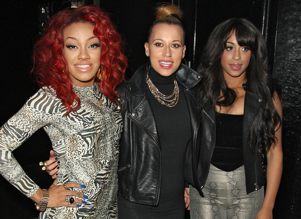 Karis Anderson, Alexandra Buggs and Courtney Rumbold of Stooshe, at the Single Party held at Rose Club. London, England - 07.08.12 Mandatory Credit: Spiller/WENN.com