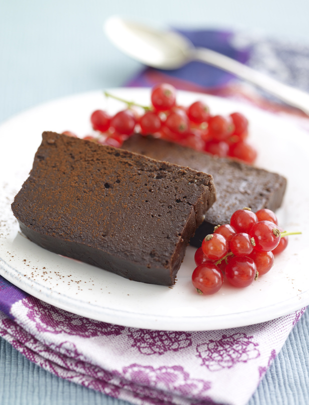 Baked Chocolate Coffee Fudge Loaf