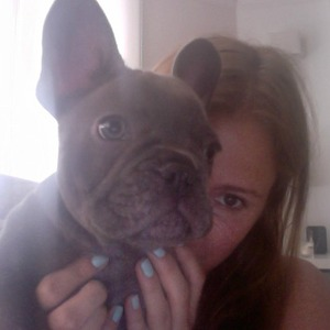 Millie Mackintosh with puppy Herby