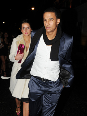 Helen Flanagan and boyfriend Scott Sinclair leavethe May Fair hotel London, England - 13.02.11 Mandatory Credit  WENN.com