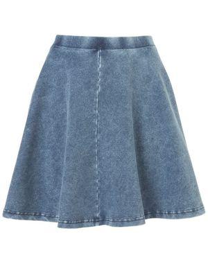 miss mode: topshop denim skirt