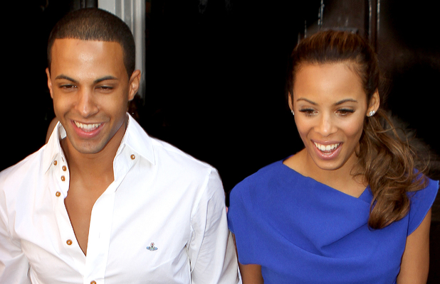 Marvin Humes and Rochelle Wiseman leaving their hotel for the first time as husband and wife following their wedding, which took place on Friday (July 27) at Blenheim Palace