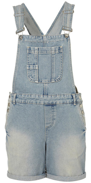 Topshop dungaree shorts
