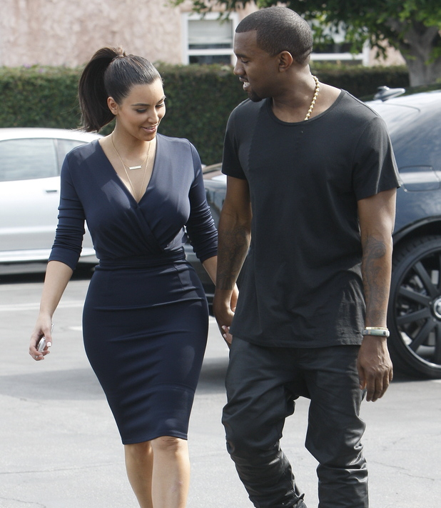 Kim Kardashian and Kanye West head out to lunch in Beverly Hills after attending the grand opening of Dash Los Angeles, California - 13.07.12 Credit: (Mandatory): WENN.com