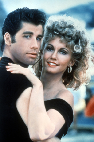 Grease picture of John Travolta and Oliva Newton-John