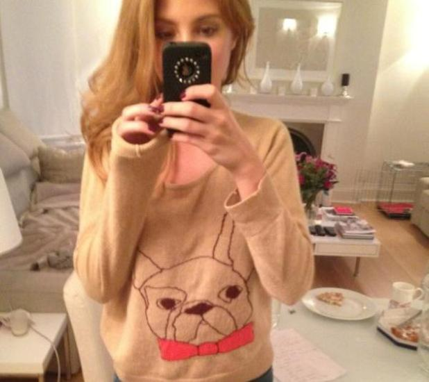 Millie Mackintosh shows off her new French bulldog jumper