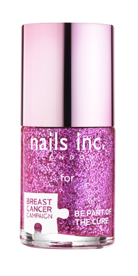 Nails Inc Pink Glitter Polish for Breast Cancer Campaign