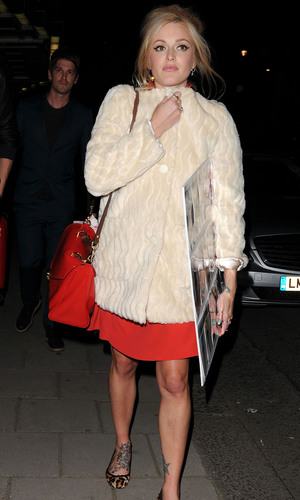 Fearne Cotton leaves Claridge's Hotel after the launch of her SS13 fashion collection for Very.co.uk London, England - 13.09.12 Credit Mandatory: WENN.com