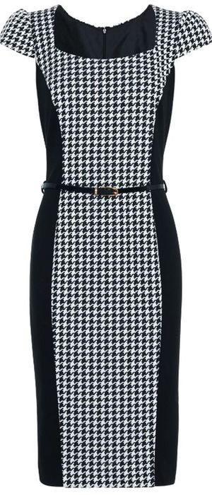 Gok's style school: Dogtooth Curvy dress