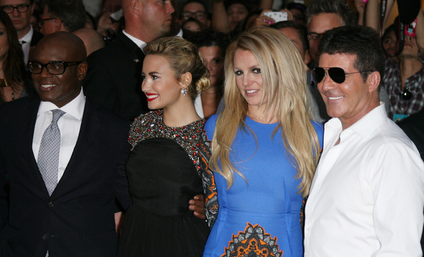 L.A. Reid, Demi Lovato, Britney Spears and Simon Cowell The 'X Factor' Season Two Premiere Screening and Handprint Ceremony held at Grauman's Chinese Theater Los Angeles, California - 11.09.12Mandatory Credit: Adriana M. Barraza/WENN.com