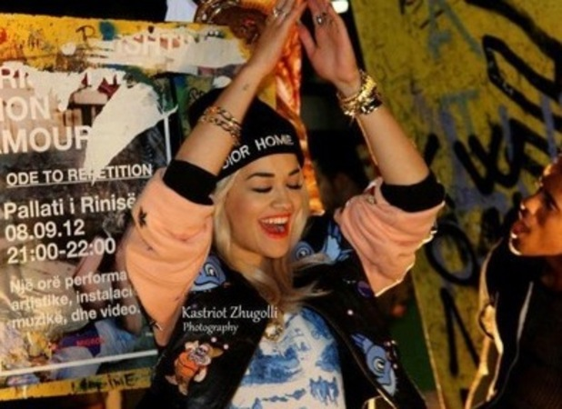 Rita Ora films new video in Kosovo