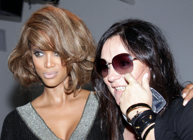 Tyra Banks and Kelly Cutrone Mercedes-Benz New York Fashion Week Spring/Summer 2013 - Jeremy Scott - Backstage New York City, USA - 12.09.12 Mandatory Credit: Caroline Torem Craig/ WENN.com