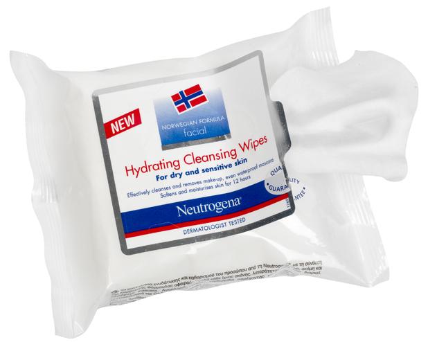 Neutrogena Hydrating Cleansing Wipes, £4.99