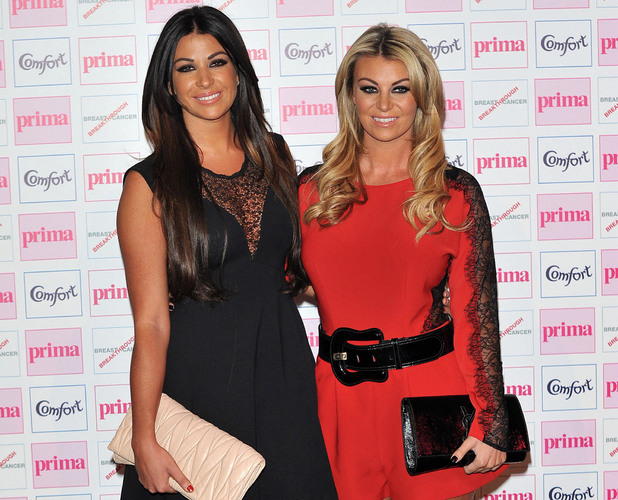 Cara Kilbey and Billi Mucklow, The Comfort Prima High Street Fashion Awards at Battersea Evolution Marquee - Arrivals. London, England. 13.09.12 Mandatory Credit: WENN.com