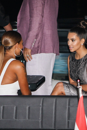Kim Kardashian and Mel B on a yacht in Australia
