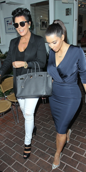 Kris Jenner, Kim Kardashian and boyfriend Kanye West seen leaving Fred Segal after having lunch Los Angeles, California  - 13.07.12 Credit: FPM/WENN.com