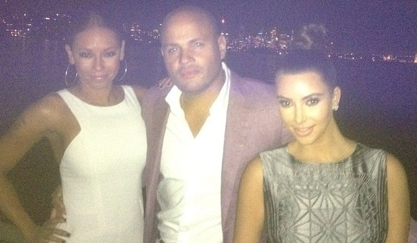 Kim Kardashian on a yacht in Australia with Mel B and Stephen Belafont