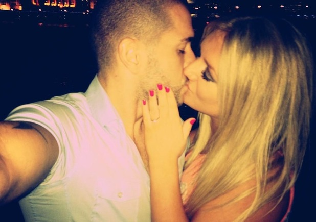 Shayne Ward and his fiance Faye McKeever