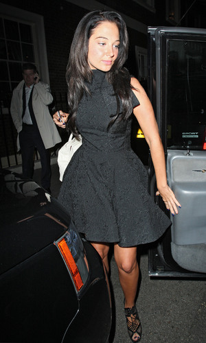 Tulisa Contostavlos leaving the Arts Club in Mayfair, London, England - 10.10.12