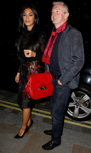 Louis Walsh and Nicole Scherzinger enjoy a night out at the Arts Club in Mayfair