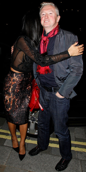 Louis Walsh and Nicole Scherzinger enjoy a night out at the Arts Club in Mayfair London, England - 10.10.12