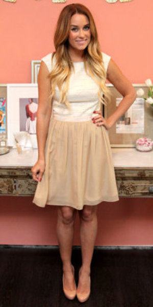 miss mode: lauren conrad beige dress