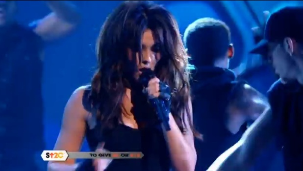 Cheryl Cole 'Stand Up to Cancer' performance