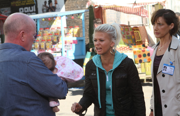 EastEnders, Lola shouts at Phil to help her, Thu 25 Oct 2012