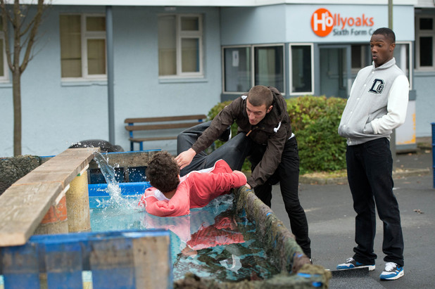 Hollyoaks, Jono and Bart argue, Thu 25 Oct 2012