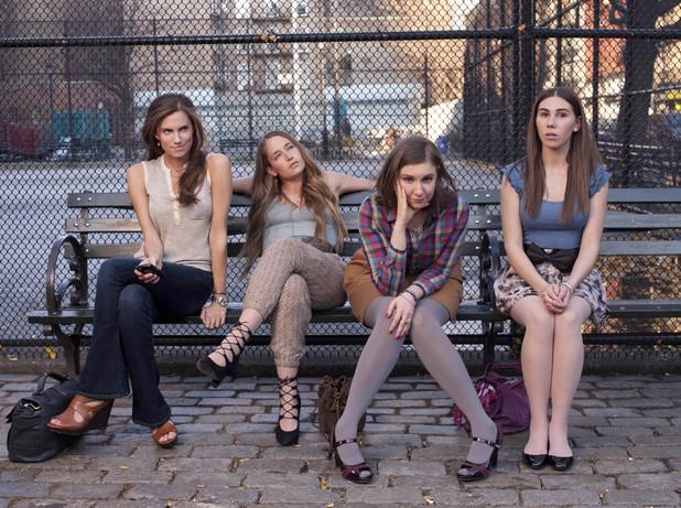 "Girls - Series 01.Key Art - Ep 01 ""Pilot""..Lena Dunham as Hannah, Jemima Kirke as Jessa, Zosia Mamet as Shoshanna and Allison Williams as Marnie Michaels..©Copyright 2000-2005 Home Box Office Inc. ."
