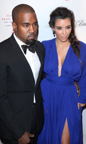 Kim Kardashian and Kanye West attend the Angel Ball 2012 at Cirpiani Wall Street New York City, USA - 22.10.12 Mandatory Credit: PNP/ WENN.com