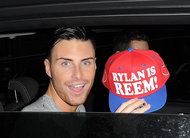 X Factor contestant Rylan Clark leaving a dance studio, holding a custom made 'Rylan Is Reem' baseball cap. London, England - 23.10.12 Credit: (Mandatory): Will Alexander/WENN.com