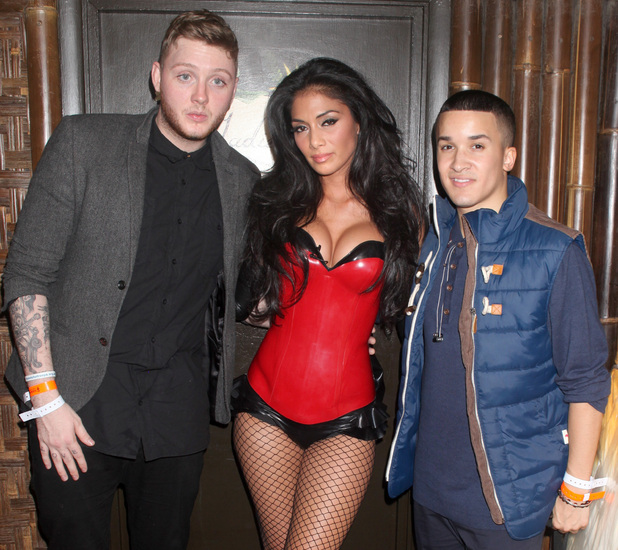 Nicole Scherzinger, James Arthur and Jaheme Douglas at Mahiki 24.10.12