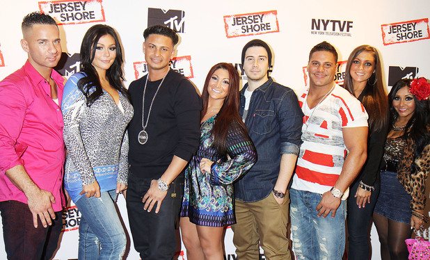 "Jenni 'JWOWW' Farley, Paul 'Pauly D' Delvecchio, Deena Cortese, Vinny Guadagnino, Ronnie Ortiz-Magro, Sammi Giancola and Nicole 'Snooki' Polizzi ""Love, Loss, (Gym, Tan) and Laundry: A Farewell To The Jersey Shore"" - 2012 New York Television Festival at 92Y Tribeca New York City, USA - 24.10.12 **Not Available for the New York Daily News. Available for the Rest of the World** Mandatory Credit: Michael Carpenter/ WENN.com"