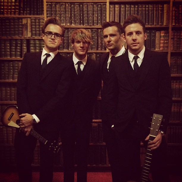McFly before talk at Oxford Union