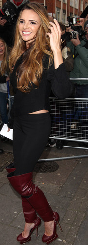 Miss Mode: Nadine Coyle outside Radio 1 Studios 12/11/2012