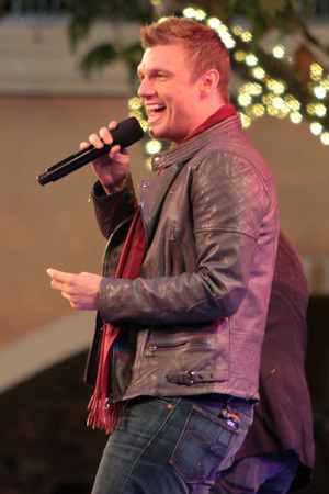 Nick Carter 10th Annual Hollywood Christmas Celebration at The Grove Los Angeles, California - 11.11.12 Mandatory Credit: Josiah True/WENN.com