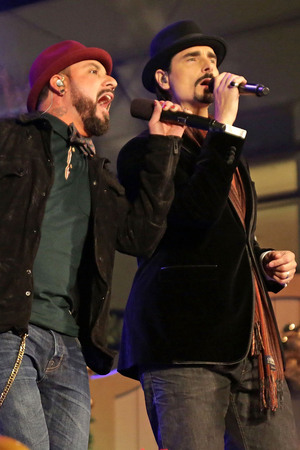 Backstreet Boys (L-R) Kevin Richardson, and A.J. McLean 10th Annual Hollywood Christmas Celebration at The Grove Los Angeles, California - 11.11.12 Mandatory Credit: Brian To/WENN.com