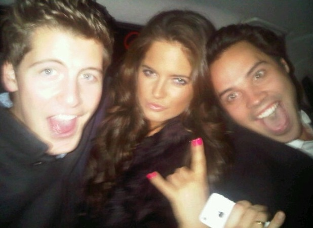 Made in Chelsea's Stevie Johnson, Binky Felstead and Andy Jordan 11.11.12