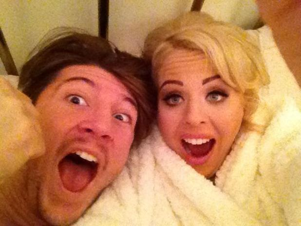 TOWIE's Lydia Bright and Tom Kilbey on the morning of their six month anniversary.