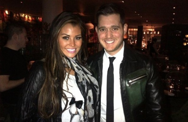 Jessica Wright meets Michael Buble after watching The Bodyguard: The Musical - 20 November 2012